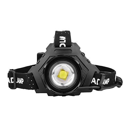 Whbage Lampe frontale LED la plus puissante USB Lampe frontale Zoom Power Bank Randonnée Pêche Zoom