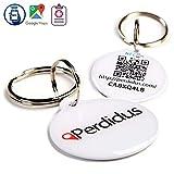 Perdidus Chapa Placa Identificativa Inteligente para Perros con tecnología NFC Contactless y QR gestionable vía App Classic