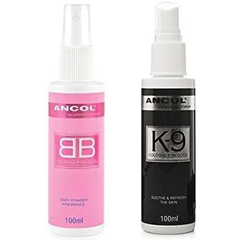 Ancol Poudre pour bébé Cologne et Ted Barker K9Parfum Parfum Lot