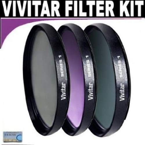 Vivitar Series 1 Multi-Coated 3 Piece Filter Kit (UV, CPL, FLD) Includes Nylon Filter Wallet For The Nikon D5000, D3000 Digital SLR Cameras Which Have Any Of These (18-55mm, 55-200mm, 50mm) Nikon Lenses