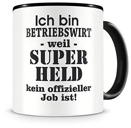 Samunshi® Ich bin Betriebswirt Tasse Beruf Geschenk Kaffeetasse Teetasse Kaffeepott Kaffeebecher Becher schwarz