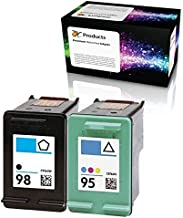 OCProducts Refilled Ink Cartridge Replacement for HP 98 and HP 95 for Officejet 150 100 H470 PhotoSmart D5160 C4180 2570 8030 8049 (1 Black 1 Color)
