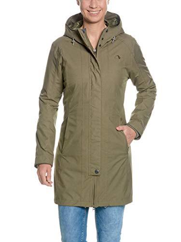 Tatonka Kurzmantel Jores W's Coat - eleganter Damen Mantel - wasserdicht, atmungsaktiv, figurbetont und aus PFC-freiem Material - Größe 44 - Regular Fit - bark Green