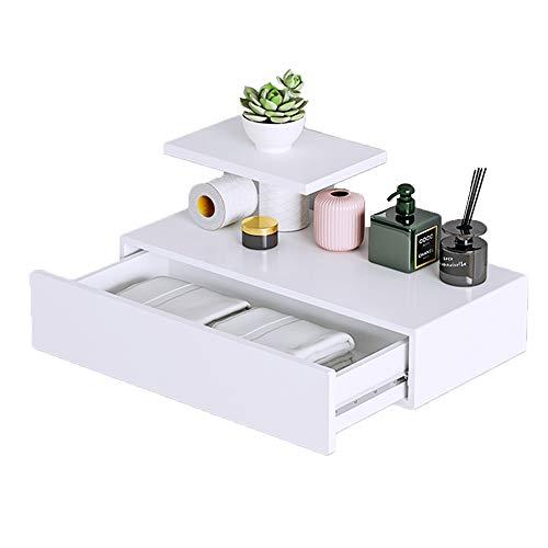 GYJ Drijvende Wandplank, Planken met Lade Rustiek Hout voor Opslag en Display Multiuse Als nachtkastje of nachtkastje Home Decor