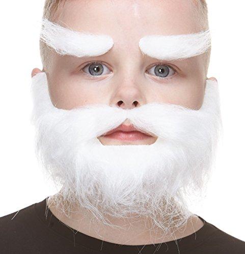 Mustaches Selbstklebende Kleiner Realistisch Traper Fälschen Bart Fälschen Schnurrbart und Fälschen Augenbrauen für Kinder Weiß Farbe