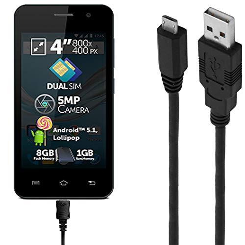 ASSMANN Ladekabel/Datenkabel kompatibel für Allview A5 Easy - schwarz - 1m