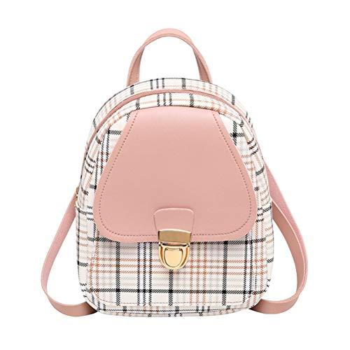 LifeBest Mini Backpack Crossbody Bag for Teenage Plaid Shoulder Bag Girls Backpack Travel Bag & School Bag