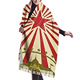 Bokueay Bufanda de cachemira de imitación Carnival Circus Vintage for Your Perfect Size Screen Marquee Cabaret Super Soft Warm Cozy winter Cashmere Tassel scarf For Men And Women
