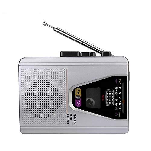 Radio portátil con la grabación del modo de reproducción en bucle de casete de 3,5 mm for auriculares Jack simple operación de reproducción de cassette, conveniente for acampar al aire libre del viaje