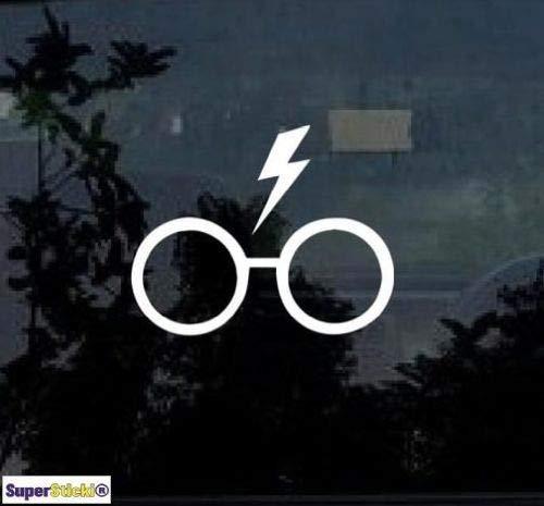 SUPERSTICKI Harry Potter Glasses ca.20cm Aufkleber,Autoaufkleber,Sticker,Decal,Wandtattoo, aus Hochleistungsfolie,UV&waschanlagenfest,
