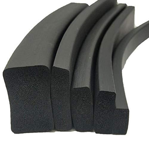 Tings Zelfklevende rubberen schuimrubberen kastdeur raamafdichtstrip crashbestendige tochtstrip Geluidsisolatie, zwart, 50 mm x 5 mm