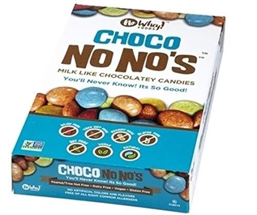 No Whey Foods - Choco No No's (12 Pack) - Vegan Chocolate Candy - Dairy Free, Peanut Free, Nut Free, Soy Free, Gluten Free