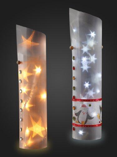 Sternentraum-Lampenfolie, spitz, 1 teilig, komplett, ohne Lichterkette