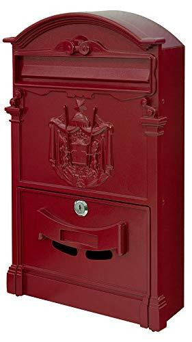 V2Aox Retro Antik Nostalgie Vintage Briefkasten Postkasten Wandbriefkasten Rot