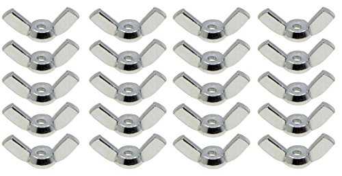 YXQ M3 Wing Nuts M3-0.5mm Metric Thread Wingnut Set Hardware Nut Fasteners Wrench Tools(20Pcs)