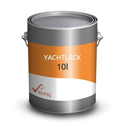 BEKATEQ LS-100 Bootslack farblos für innen & außen I 10 Liter glänzend I Klarlack für Holz I Parkettlack, Treppenlack, Schiffslack, Yachtlack I Hochbelastbar, wetterbeständig, süß- und seewasserfest
