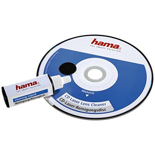 Hama Reinigungs CD für CD und DVD Player (Disk mit Reinigungsflüssigkeit, einzeln verpackt, zur Säuberung der CD und DVD Laufwerke für eine verbesserte Wiedergabequalität)