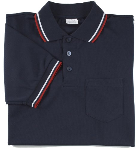 Adams USA Smitty Major League Style Short Sleeve Umpire Shirt with Front Chest Pocket (Navy, Large)