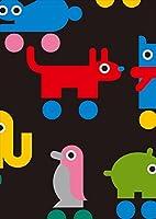igsticker ポスター ウォールステッカー シール式ステッカー 飾り 841×1189㎜ A0 写真 フォト 壁 インテリア おしゃれ 剥がせる wall sticker poster 003778 ラブリー 動物 キャラクター カラフル