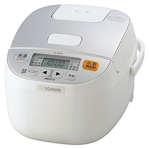 象印 炊飯器 マイコン式 3合 ホワイト NL-BA05-WA