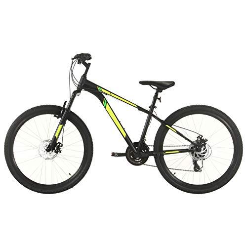 Festnight Mountain Bike, Bici Mountain Bike, Mountain Bike Uomo Donna, Mountain Bike Adulto 21 Speed 27,5  Ruote 38 cm Nero