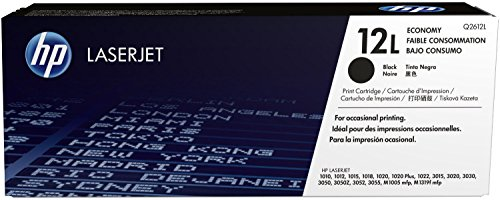 1x Original HP Toner Q2612L Q 2612L für HP Laserjet 1018 - BLACK - Leistung: ca. 1000 Seiten bei 5% Seitenabdeckung