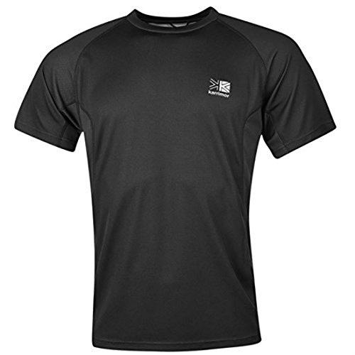 Karrimor Herren Aspen Technical T-Shirt Rundhals Kurzarm Tee Top Sportshirt Schwarz Large