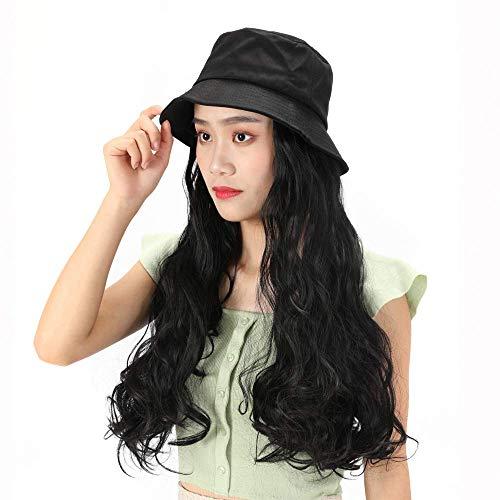 pruiken Hoed pruik volume grote golf lang krullend visser hoed hoed pruik een water rimpel krullend hoed pruik