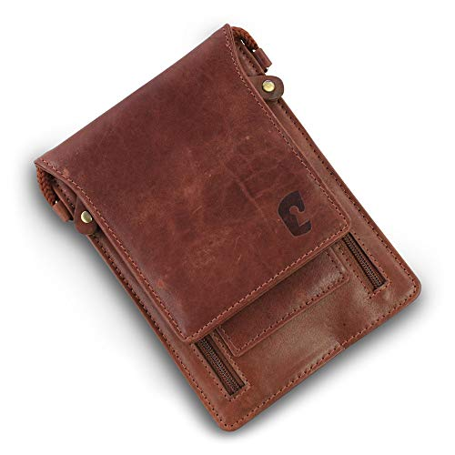 Safekeepers Lederen Travel Wallet – Paspoort Portemonnee – Festival Bag – Stash – Document Portemonnee - Nek Pouche RFID Beschermd - Paspoort Pouche