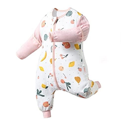 MH-RING Saco Dormir Bebe Verano, Saco de Dormir Ligero Desmontable Manga Larga para Bebés o Niños de 0-36 Meses (Size : L)