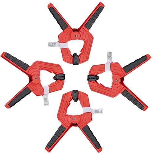 CAMPWAY(キャンプウィー) スプリングクランプ 手握クリップ 国際大工レベル 木工用圧着 溶接 切断 固定 作業 万能クリップDIY工具 滑り止め A型 4点セット 全長17cmx4