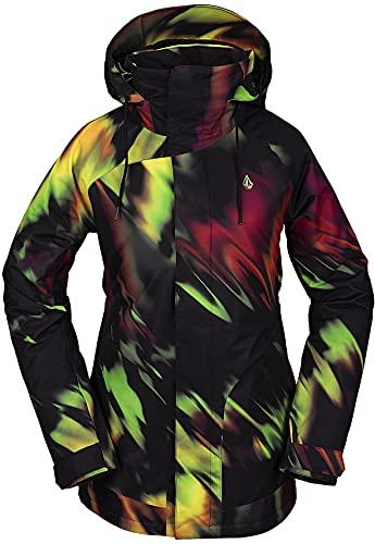 Volcom Women's Westland Insulated Snowboard Ski Winter Hooded Jacket, ACID YELLOW, S