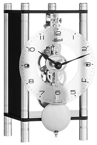 Hermle moderne tafelklok met mechanisch uurwerk - Modern Style zwart 20cm- 23036-740721
