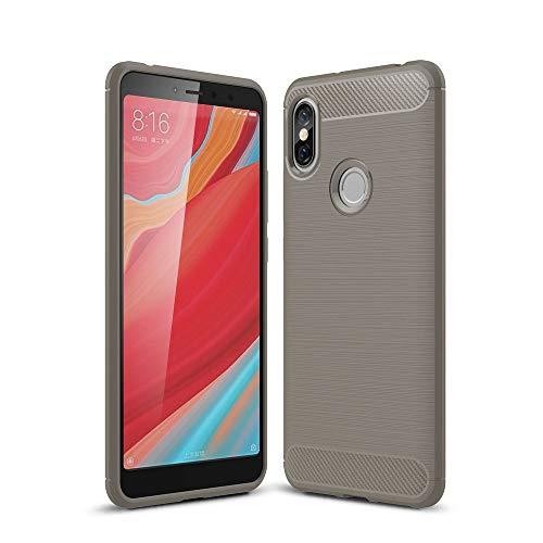 König Design Handy-Hülle kompatibel mit Xiaomi Redmi S2 / Y2 Silikon Case Hülle Sturzsichere Back-Cover Handyhülle - Carbon - Blau