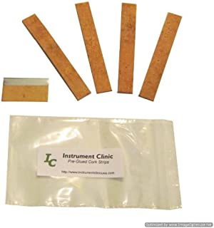 Instrument Clinic Pre-Glued, Natural Key Cork Strips, Saxophone, Clarinet, Oboe, Flute