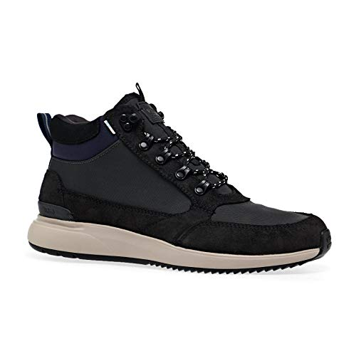 TOMS Skully Waterproof Boots 40.5 EU Black Waxy Suede Nylon