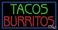 17x 32x 1インチTacos Burritosアニメーション点滅LEDウィンドウサイン