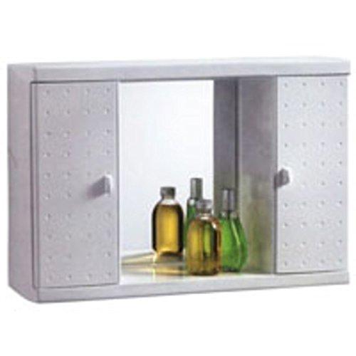 Miss Space CGV046 Spiegelkast met 2 deuren van schokbestendig ABS-kunststof, wit