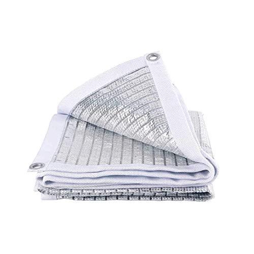 Qdesign 75% Reflectante de Aluminio sombreado de Tela, con protección UV de protección Solar sombreado Velas, sombreado Neta Neta de Aislamiento sombreado Cubierta de Polvo Neta (Size : 2x2m)