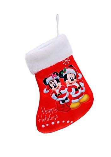 Ciao- Mini Calza Natale Disney Mickey e Minnie, Rosso, S, 90946
