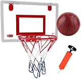 SONGYU-Basketball Set Children's Basketball Hoop Set - Durable Portable Sports Toy with Backboard Inflator for Children Indoor Sports Basketball Stand