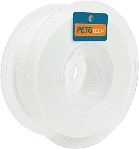 PETG Tech 1kg. White 1.75 mm - Filamento PETG ad Alte Prestazioni per la Stampa FFF 3D - High Performance PETG Filament for 3D Printer