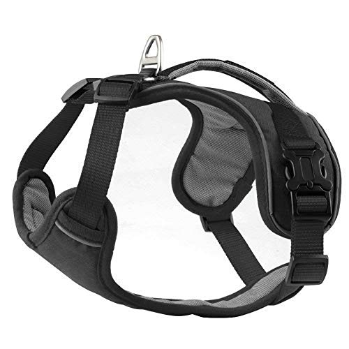 PETLOFT Dog Harness, Gentle Leader, No Pull Dog Harness, Neck/Chest Adjustable Dog Harness, Dog Harness for Small Medium Large Dogs (Large, Red)
