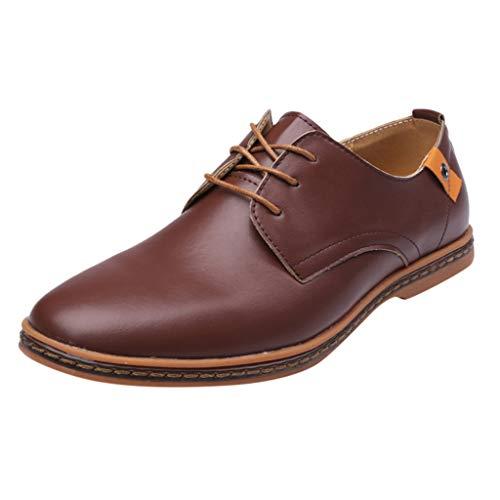 Alwayswin Herren Business Schuhe Klassischer Leder Schuhe Schnürschuhe Solid Lace Up Leder Hochzeitsschuhe Casual Britischen Stil Lederschuhe Herrenschuhe