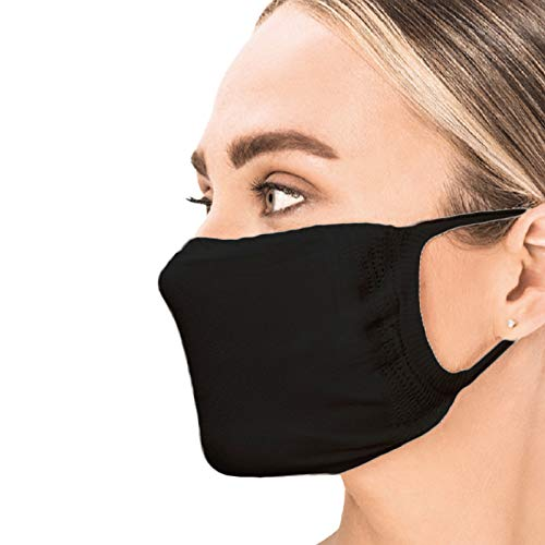 Sedax ® Innovative Silber-Ion Stoffmaske 2-Lagig Waschbar   Mundschutz-Maske für Damen Herren & Alltagsmaske für Kinder   Behelfsmaske Mund und Nasenschutz (5 Stück - Erwachsen)