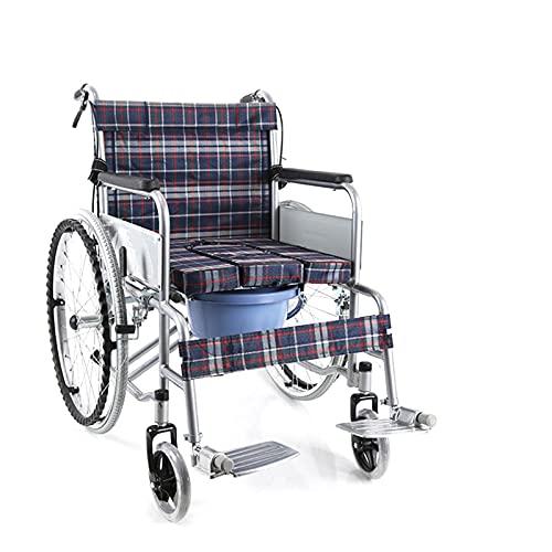 DYB Transporte Silla de Ruedas - Silla de Ruedas Plegable Silla de Ruedas Espesada Tubo de Acero Ancianos Personas con discapacidad transportes de Viaje Fácil de operar (Size : #1)