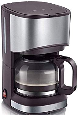 YAeele Kaffeevollautomat, Haushalt Tropf Typ Kleine Mini Kaffeemaschine, Warmhalten Anti-Drip-Design abnehmbare Filter for Office Home