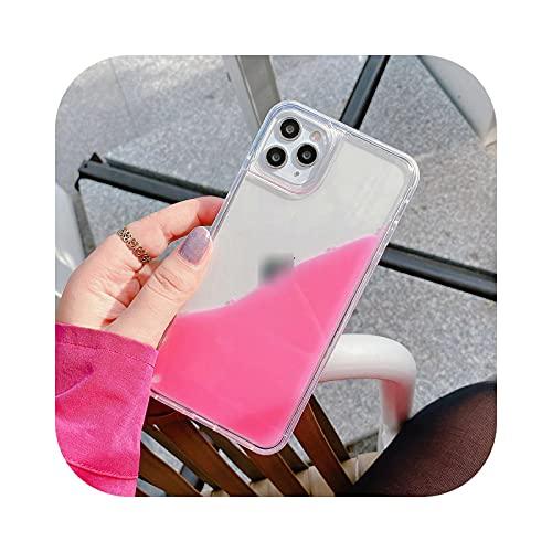 Carcasa para iPhone 12, color líquido Quicksand transparente para iPhone 12 Mini 7 8 Plus X XR XS 11 Pro Max se 2020 -Pink-for Iphone11 Pro Max