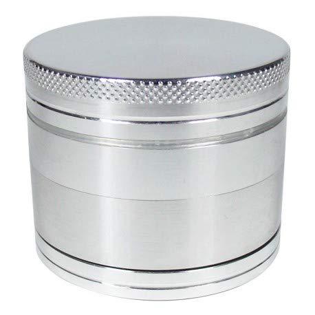 DIPSE 50mm Alu Grinder 4-teilig mit Sieb aus CNC gefrästen Aerospace Aluminium - Für den Gebrauch von Kräuter- und Tabakwaren