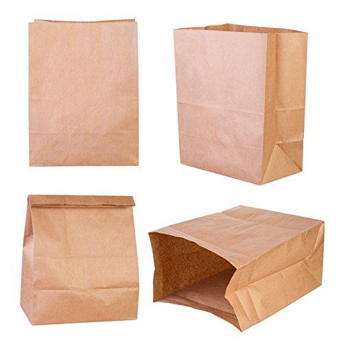 500 Lunchtüten 18+13x30cm 70g Fastfood Tüten Blockbodenbeutel Lunchtüte Doggybag Papier Bodenbeutel braun (Inkl. DSD)